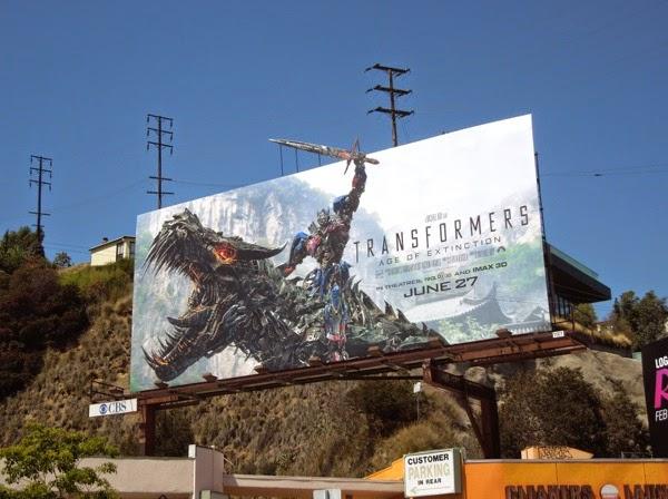 Transformers Age of Extinction movie billboard