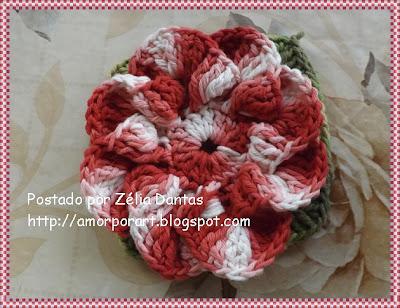 Flor de Crochê em barbante com passo a passo