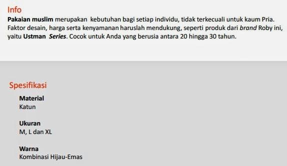 jual Baju Muslim Roby - Utsman Pekanbaru