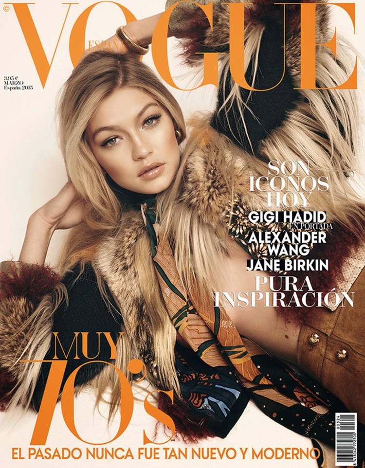 Fashion model,TV personality: Gigi Hadid for Vogue Spain