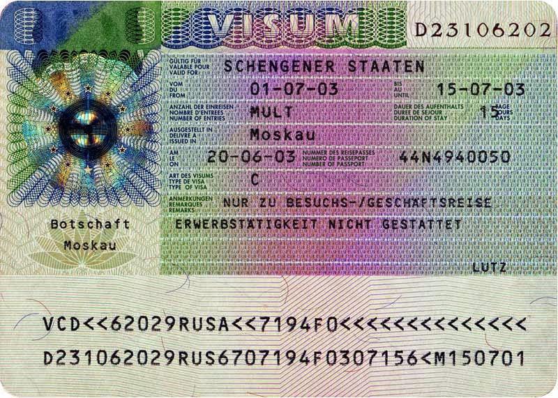 Итальянская виза документы