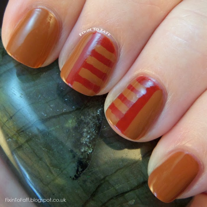 Browncoat nail art in honor of Unification Day and the Battle of Serenity Valley, from Firefly and Serenity. Here I've recreated the Independents' field uniform and flag insignia on my thumb.