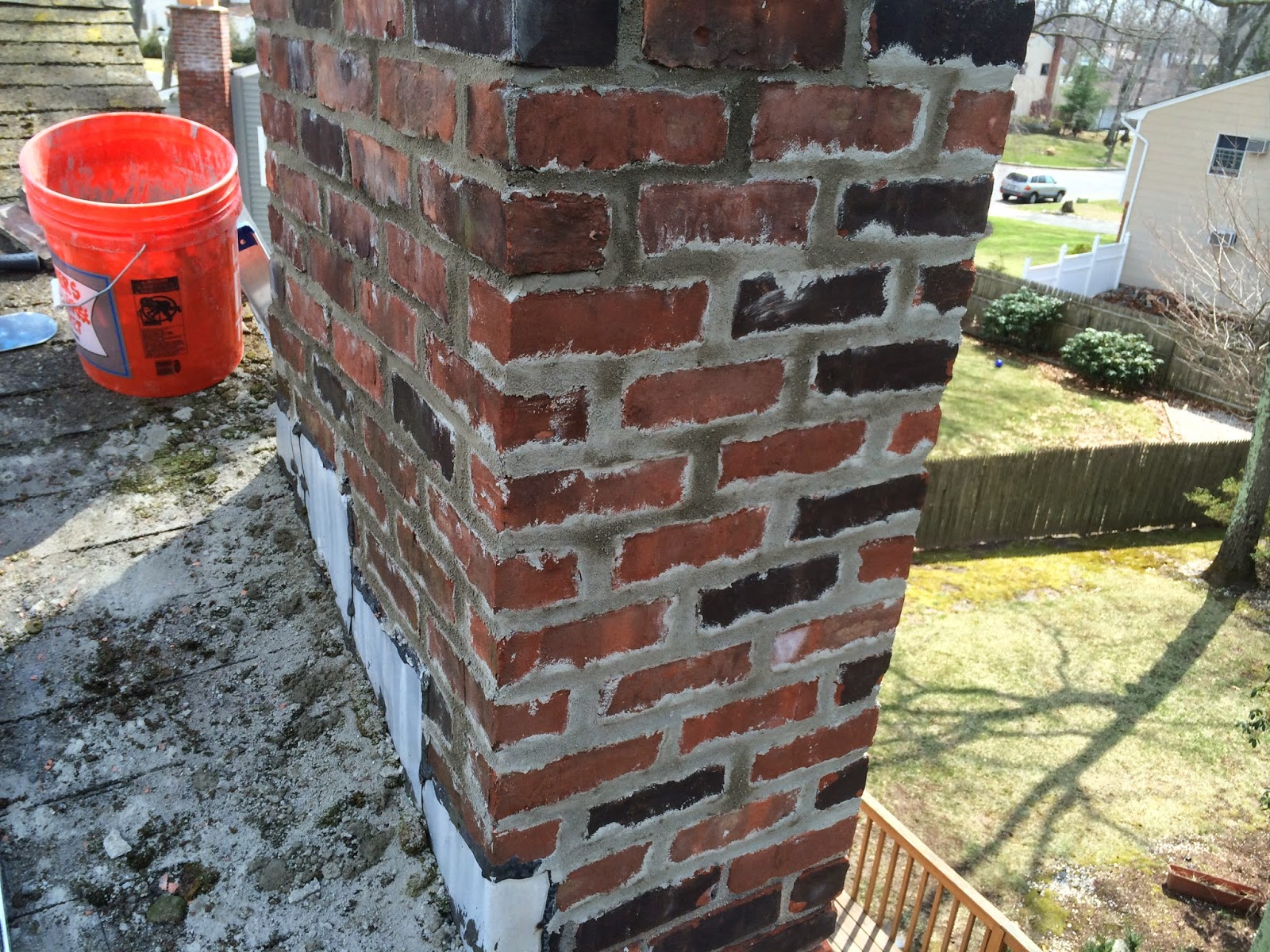 Cement Chimney Repair : Chimney project