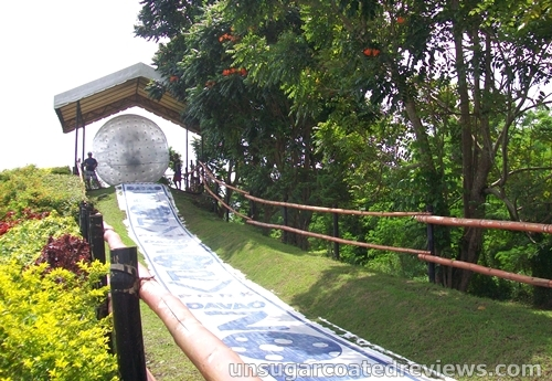 Zorbing at Zorv Park in Davao City, Philippines