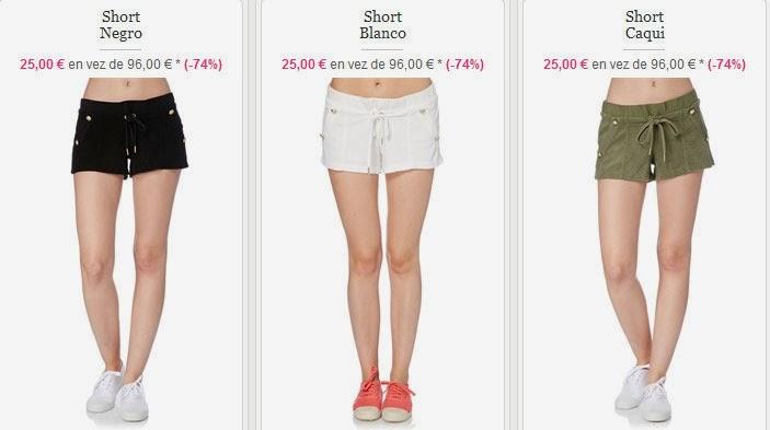 Shorts para mujer por menos de 30 euros