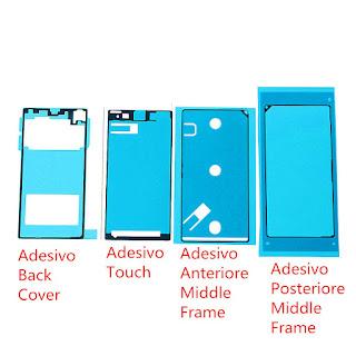SET ADESIVI ADHESIVE Glue Sticker LCD Battery Back Cover Per Sony Xperia Z1 L39H
