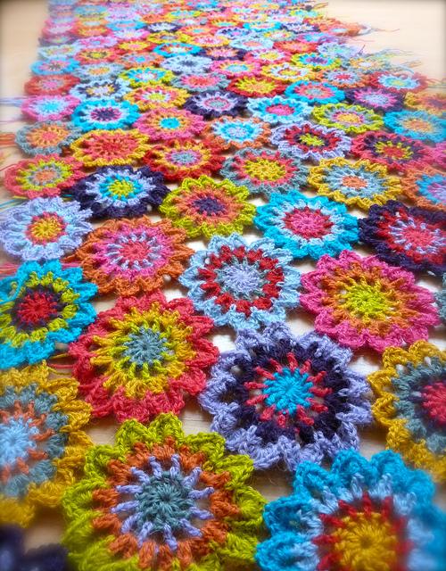 Japanese Flower Crochet Afghan Pattern : According to Matt...: Japanese Flower Blanket