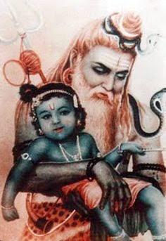 Shiv took Shri Krishna in lap