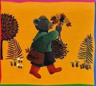 petit ours brun automne