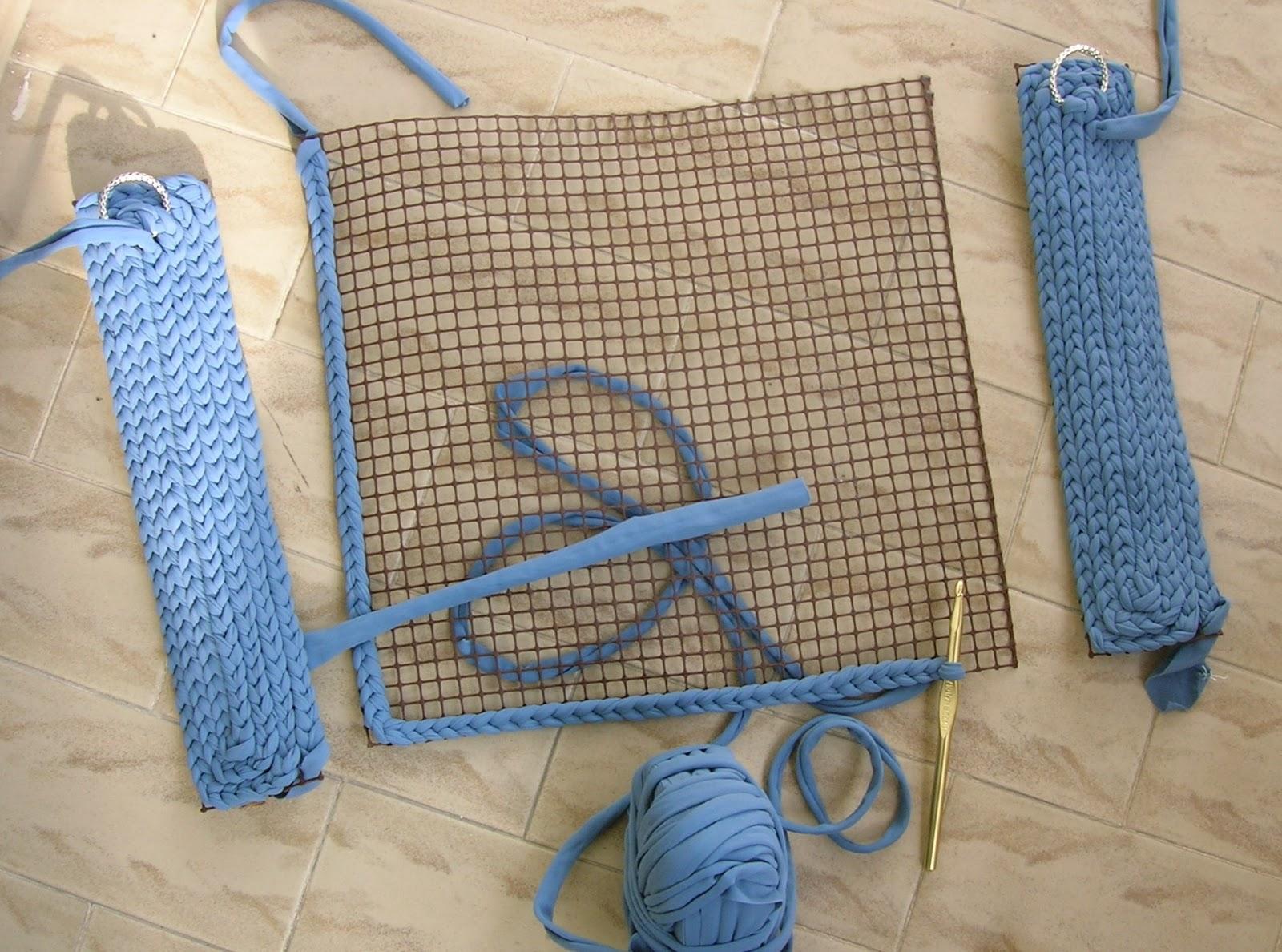 Le creazioni di dony borsa in fettuccia su rete for Borse fettuccia uncinetto tutorial