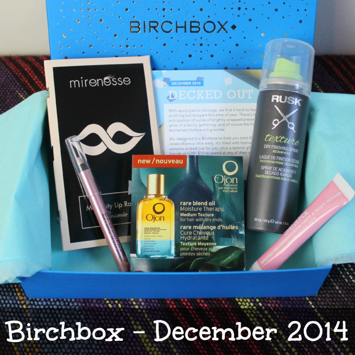 Birchbox December 2014 Review & Unboxing: Decked Out unboxing