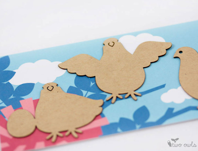 sticky notes shaped like pigeons