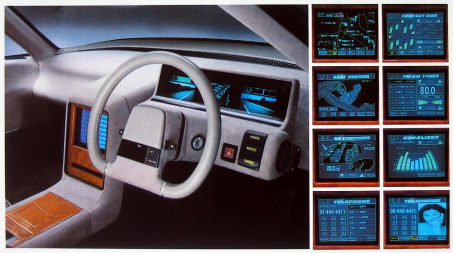 Subaru F624 Estremo, japoński koncept, sportowy sedan, 1987, wnętrze, interior, boxer, 日本車, スバル