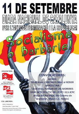 Mitin del PCPC y los JCPC el 11 de septiembre para la fiesta nacional de Cataluña 11s11
