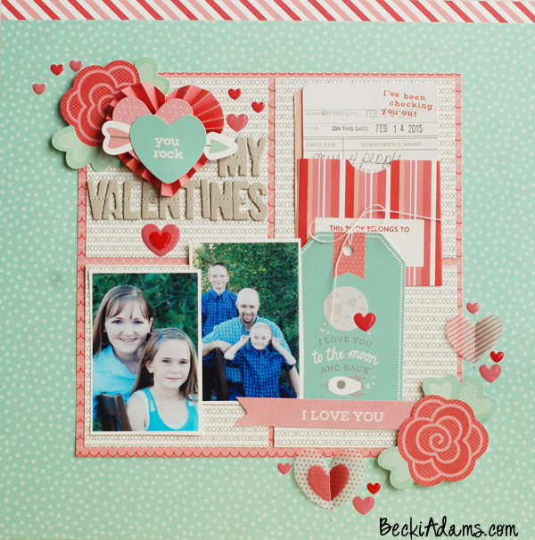 Becki Adams #scrapbooking #scrapbook #papercrafting