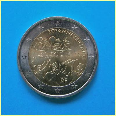 2 Euros Fete de la musique Francia 2011