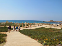 Beautiful Mediterranean coastline location of Caesaria, Roman capitol of Judea (Israel)
