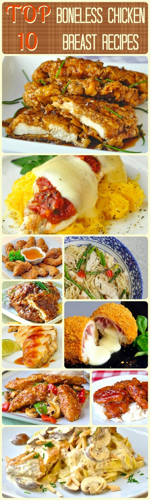 Top Ten Boneless Chicken Breast Recipes