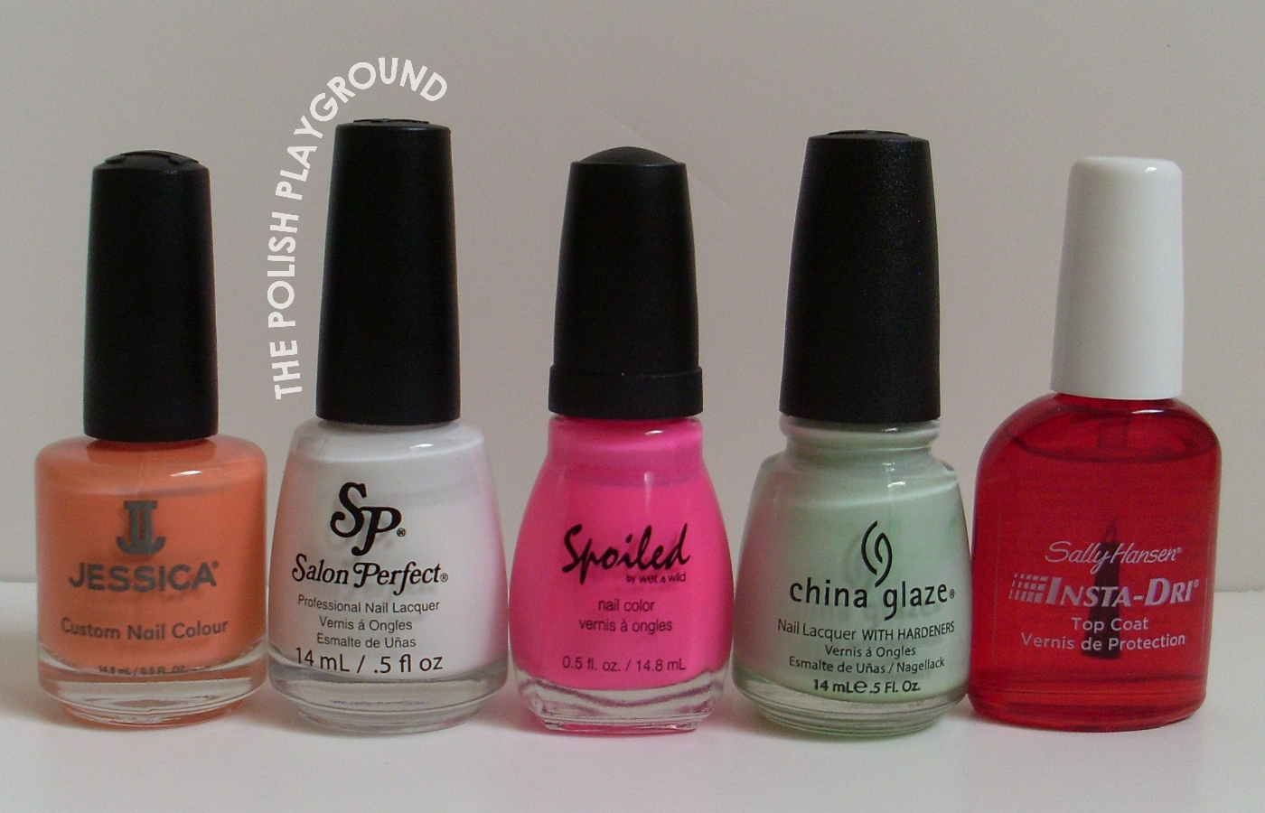 Jessica, Salon Perfect, Spoiled by Wet n' Wild, China Glaze, Sally Hansen
