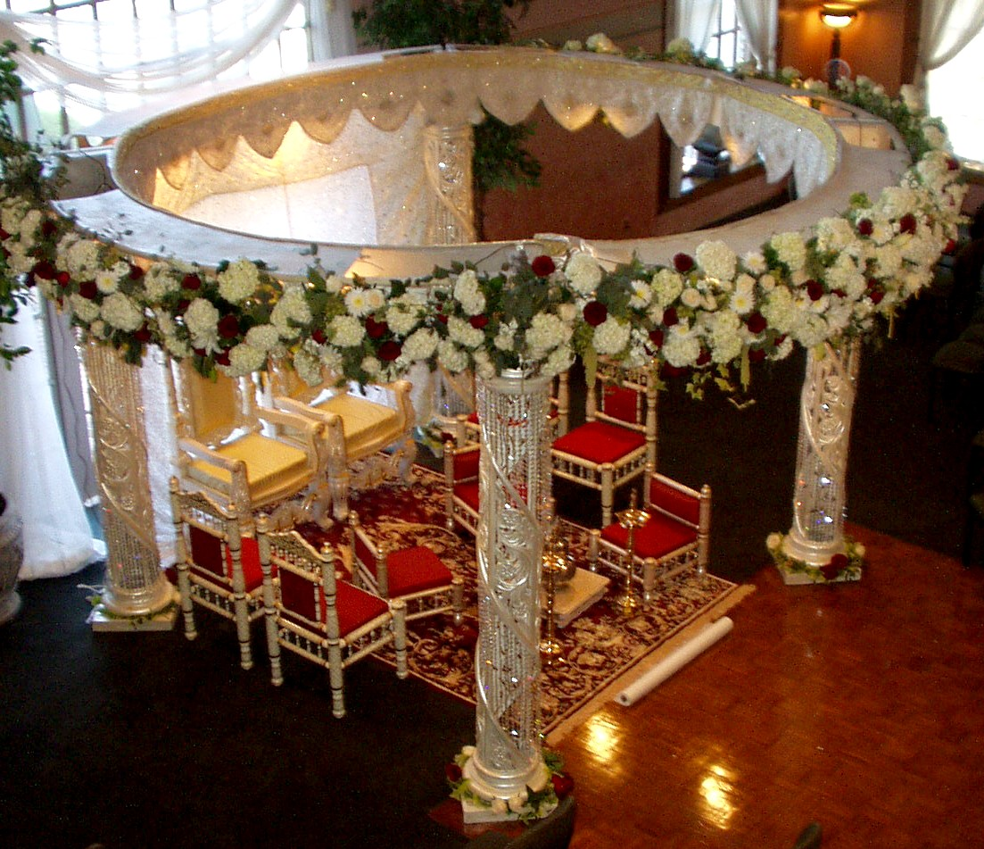 India wedding site wedding planning bridal tips mandap for Marriage decoration photos