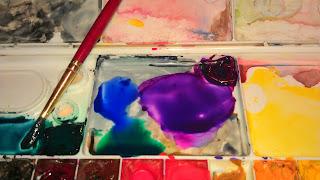 watercolor valentine craft