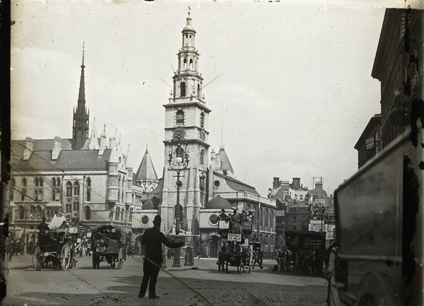 Old Photos of City Churches in London A Century Ago