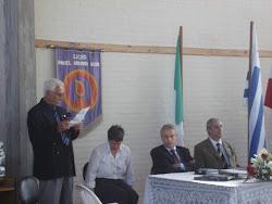SR. WALTER CHARBONNIER, dando la bienvenida al Sr. Embajador de Italia, LICEO DAU, MARZO 2011
