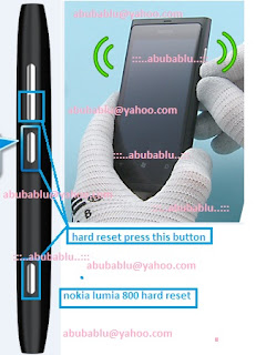 Nokia Lumia 800 hard reset