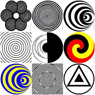вращающиеся круги - оптическая иллюзия
