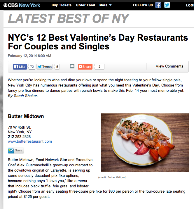Bright Lights My City Best Nyc Valentine S Day Restaurants For