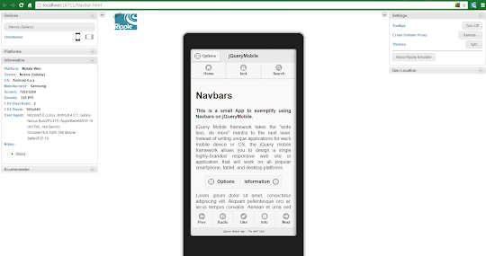 jQueryMobile App using Navbars For Android and BlackBerry   1
