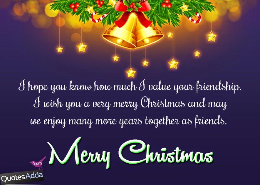English Merry Christmas Greetings for Best Friends  QuotesAdda.com  Telugu ...