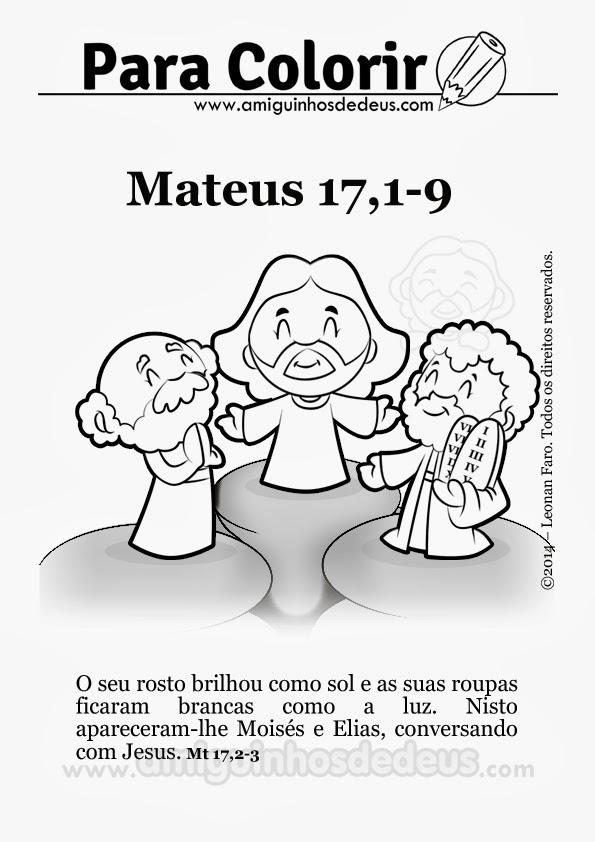 transfiguração de jesus desenho para colorir