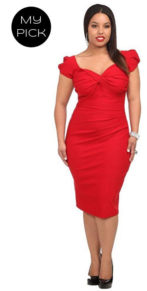 Cheap red party dresses plus size