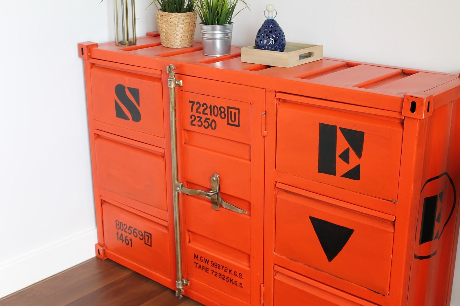 Container Du Monde 3 Meuble Tv Container En M Tal Jaune L 129 Cm  # Meuble Tv Container