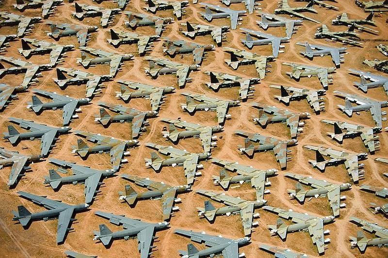 All the same cemetery military equipment in Tucson, Arizona.