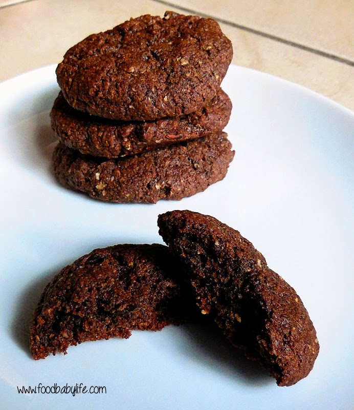 Wheat and Fructose Free Double Chocolate Cookies © www.foodbabylife.com