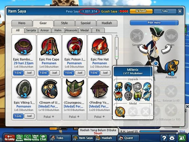 Lost Saga Terbaru, e991 cheat lost saga hero permanen, e991 cheat lost