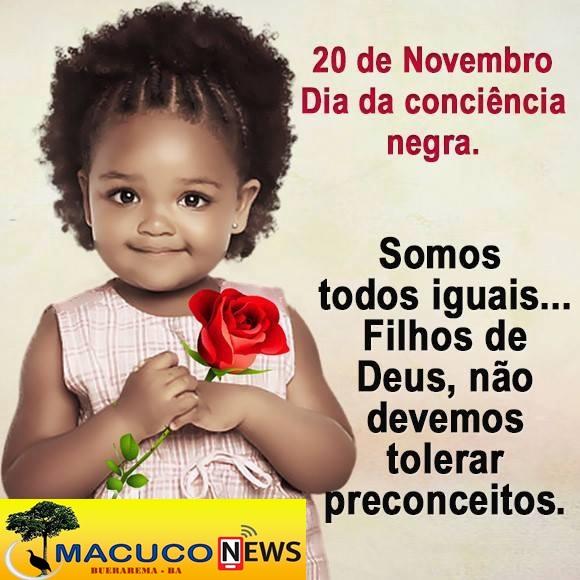 HOJE É DIA DA CONCIÊNCIA NEGRA!!