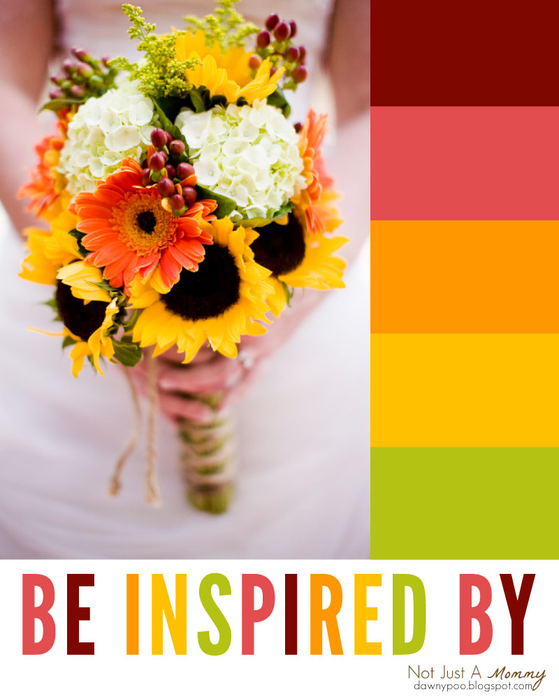 Be inspired by a gorgeous fall flower bouquet