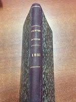 Portada Boletín Oficial La Mancha 1833