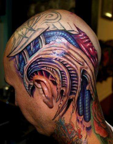 biomechanical tattoos tattoo designs on master of ink. Black Bedroom Furniture Sets. Home Design Ideas