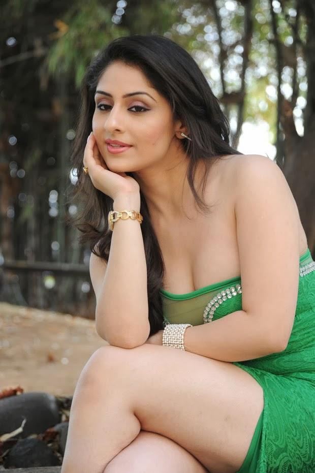Ankitha Sharma Hot Photos in Green Dress