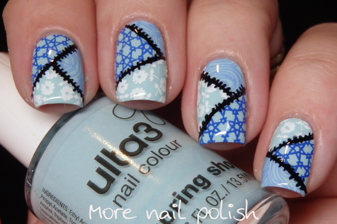 40 great nail art ideas over a pale blue base more nail polish 40 great nail art ideas over a pale blue base prinsesfo Images