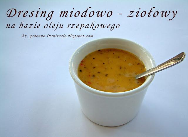 Dressing miodowo - ziołowy na bazie oleju rzepakowego