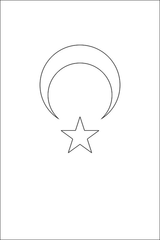 colorear bandera de Turquia para imprimir