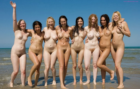 untanned girls naked at the beach