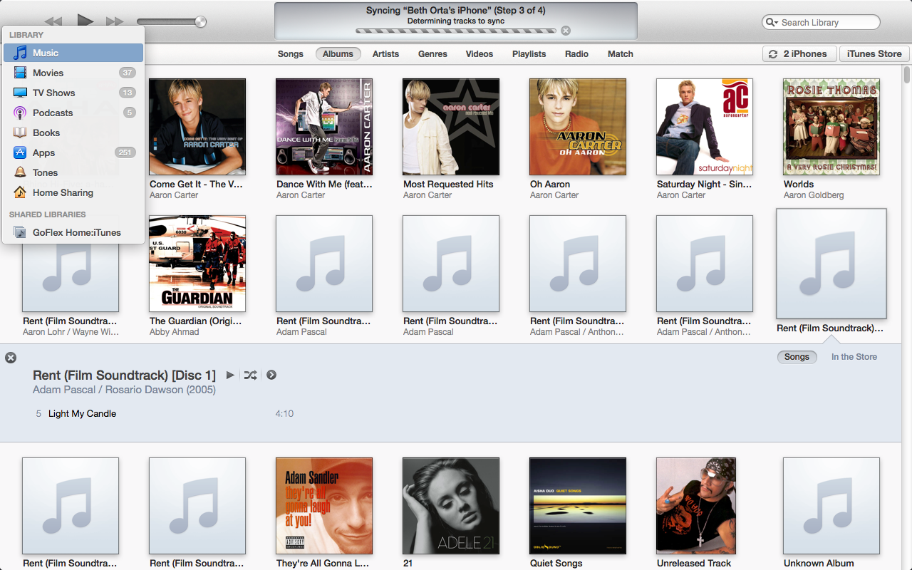 how to download all itunes music at once on iphone