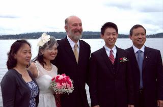 Wei, Shanshan, Shanshan's parents and Kent Buttars