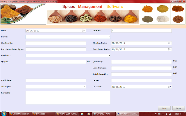 Goods Receive Note in Spices Software in Rajkot,Gujarat,India